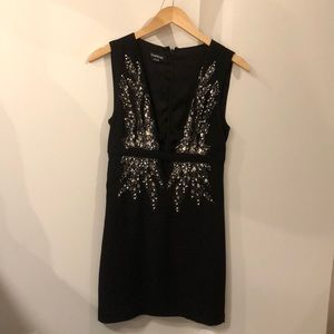 NWOT Black Embellished Mini Dress